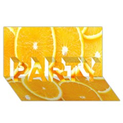 Orange Fruit Party 3d Greeting Card (8x4) by AnjaniArt