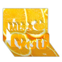 Orange Fruit Miss You 3d Greeting Card (7x5) by AnjaniArt