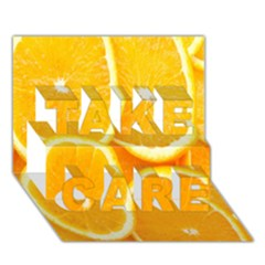 Orange Fruit Take Care 3d Greeting Card (7x5) by AnjaniArt