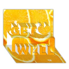 Orange Fruit Get Well 3d Greeting Card (7x5) by AnjaniArt