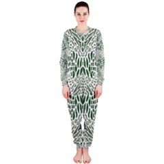 Green Snake Texture Onepiece Jumpsuit (ladies)