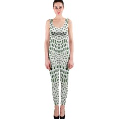 Green Snake Texture Onepiece Catsuit