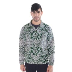Green Snake Texture Wind Breaker (men)
