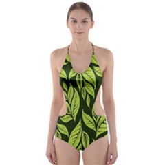 Palm Coconut Tree Cut Out One Piece Swimsuit by AnjaniArt
