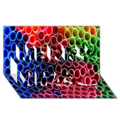 Pexels Pink Green Pipe Jpeg Merry Xmas 3d Greeting Card (8x4) by AnjaniArt