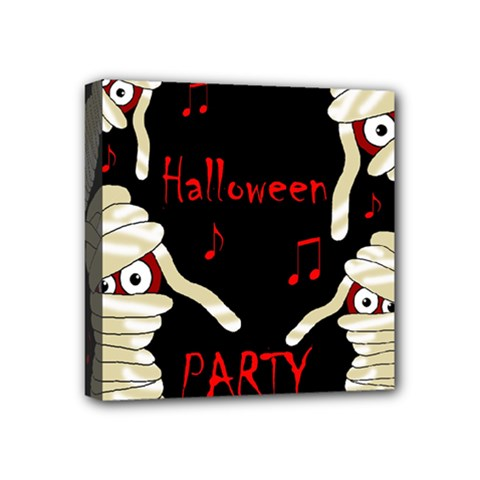 Halloween Mummy Party Mini Canvas 4  X 4  by Valentinaart