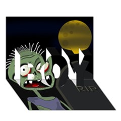 Halloween Zombie On The Cemetery Boy 3d Greeting Card (7x5) by Valentinaart
