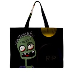 Halloween Zombie On The Cemetery Mini Tote Bag by Valentinaart