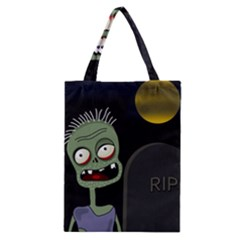 Halloween Zombie On The Cemetery Classic Tote Bag by Valentinaart