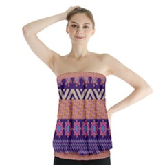 Colorful Winter Pattern Strapless Top