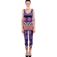 Colorful Winter Pattern OnePiece Catsuit