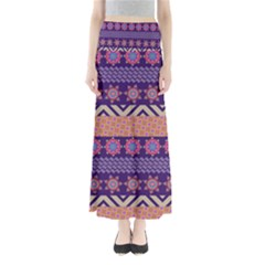 Colorful Winter Pattern Women s Maxi Skirt
