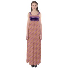 Colorful Winter Pattern Empire Waist Maxi Dress by DanaeStudio