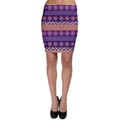 Colorful Winter Pattern Bodycon Skirt
