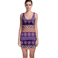 Colorful Winter Pattern Bodycon Dress