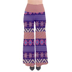 Colorful Winter Pattern Women s Chic Palazzo Pants  by DanaeStudio