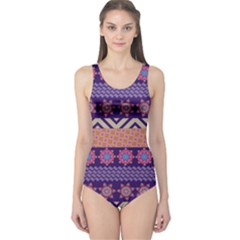 Colorful Tribal Pattern One Piece Swimsuit