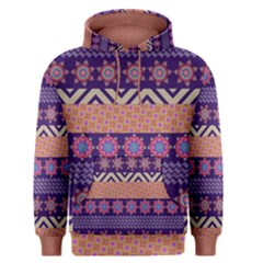 Colorful Winter Pattern Men s Pullover Hoodie
