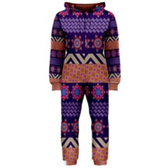 Colorful Winter Pattern Hooded Jumpsuit (Ladies)