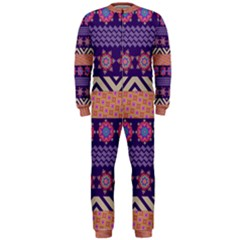 Colorful Winter Pattern Onepiece Jumpsuit (men) by DanaeStudio