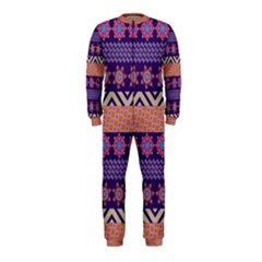 Colorful Winter Pattern OnePiece Jumpsuit (Kids)