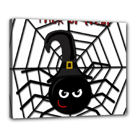 Halloween Cute Spider Canvas 20  X 16  by Valentinaart