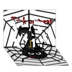 Halloween Cute Spider Love 3d Greeting Card (7x5) by Valentinaart