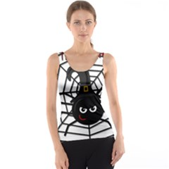 Halloween Cute Spider Tank Top by Valentinaart