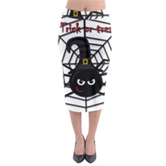 Halloween Cute Spider Midi Pencil Skirt by Valentinaart
