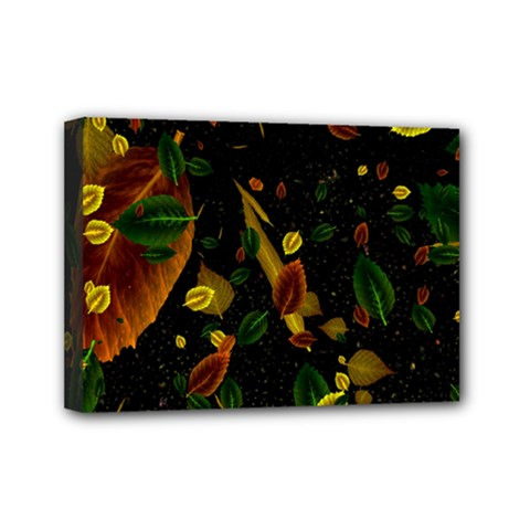 Autumn 03 Mini Canvas 7  X 5  by MoreColorsinLife