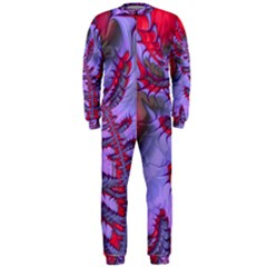 Freaky Friday Red  Lilac Onepiece Jumpsuit (men)  by Fractalworld