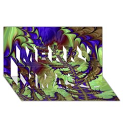 Freaky Friday, Blue Green Merry Xmas 3d Greeting Card (8x4) by Fractalworld
