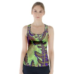 Freaky Friday, Blue Green Racer Back Sports Top by Fractalworld