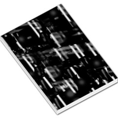 Black And White Neon City Large Memo Pads by Valentinaart