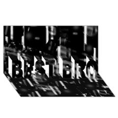 Black And White Neon City Best Bro 3d Greeting Card (8x4) by Valentinaart
