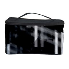 Black And White Neon City Cosmetic Storage Case by Valentinaart