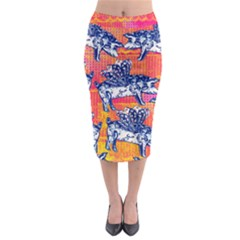 Little Flying Pigs Midi Pencil Skirt by DanaeStudio