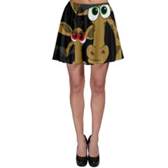 Giraffe Halloween Party Skater Skirt by Valentinaart