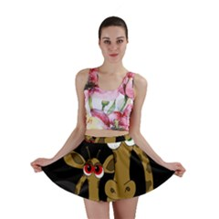 Giraffe Halloween Party Mini Skirt by Valentinaart