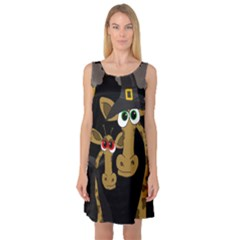 Giraffe Halloween Party Sleeveless Satin Nightdress by Valentinaart