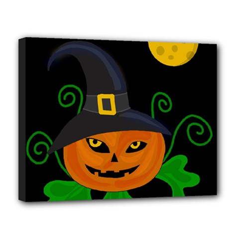 Halloween Witch Pumpkin Canvas 14  X 11  by Valentinaart