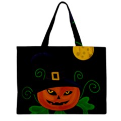 Halloween Witch Pumpkin Zipper Mini Tote Bag by Valentinaart