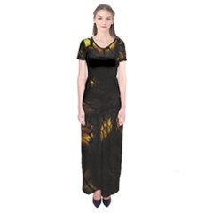 Earth Dragon Short Sleeve Maxi Dress by RespawnLARPer