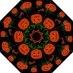 Halloween Pumpkin Pattern Folding Umbrellas by Valentinaart