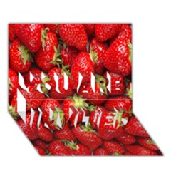 Red Fruits You Are Invited 3d Greeting Card (7x5) by AnjaniArt