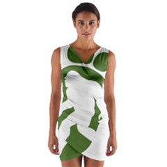 Sasquatch Wrap Front Bodycon Dress