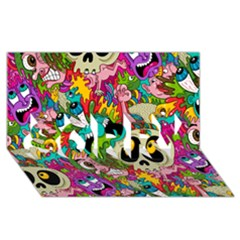 Sick Pattern Sorry 3d Greeting Card (8x4) by AnjaniArt