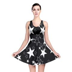 Star Black White Reversible Skater Dress