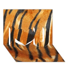 Tiger I Love You 3d Greeting Card (7x5)