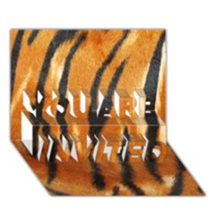 Tiger You Are Invited 3d Greeting Card (7x5) by AnjaniArt